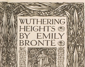 Antique Wuthering Heights by Emily Bronte, vintage 1900s book