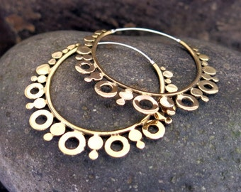 Venus (Large) Brass Earrings
