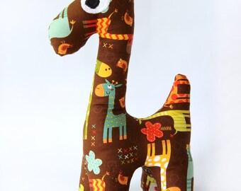 Stuffed Giraffe, Plush Baby Toy, Best Gift Ever,Handmade Organic Toy ,100% cotton. JoJo