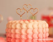Cupcake Toppers / Heart Cupcake Toppers / Wedding Cake Topper / Bachlorette Party / Birthday Cupcake Topper / Set of 10 / 11 Wire Colors