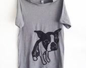 Boston Terrier Grey Tshirt