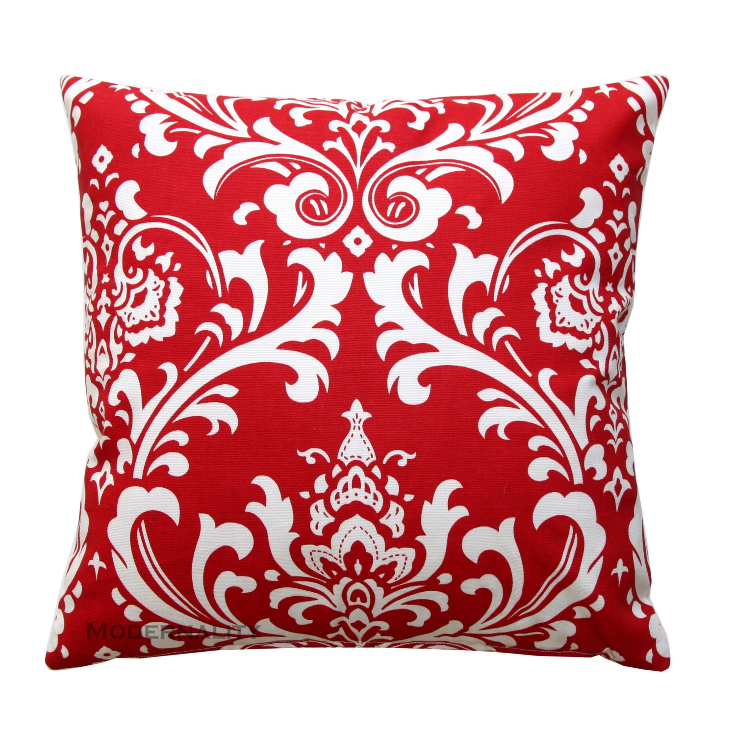 Throw Pillows In Clearance : CLEARANCE Throw Pillows Damask Pillow Ozborne Lipstick Red