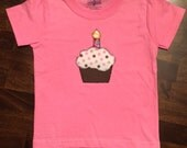 Birthday Cupcake T-Shirt Customized for a Boy or Girl