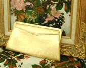 GARAY  Gold Metallic Clutch Handbag