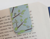 Magnetic Laminated Bookmark Bird Tree Spring Leaves Nature, Planner Bookmark, Ready To Ship