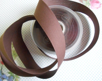 "Canvas Tape Brown Cotton 1 1/4""width 5yds"