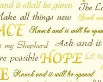 Inspirational verses from the Bible fabric from Whistler Studio for Windham fabric