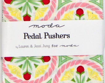 Pedal pushers charm pack by Lauren and Jessi Jung for Moda fabric