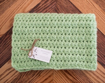 Olive Green Baby Afghan