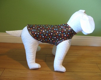 Dog Rain Coat, Slicker, Extra Small Multicolor Polka Dots with Orange Fleece Lining