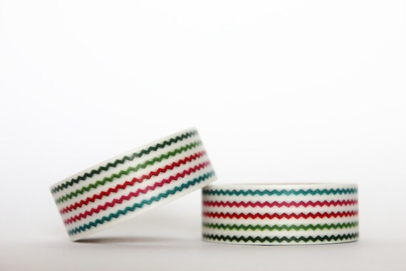 Tiny Colourful Chevron Washi Tape