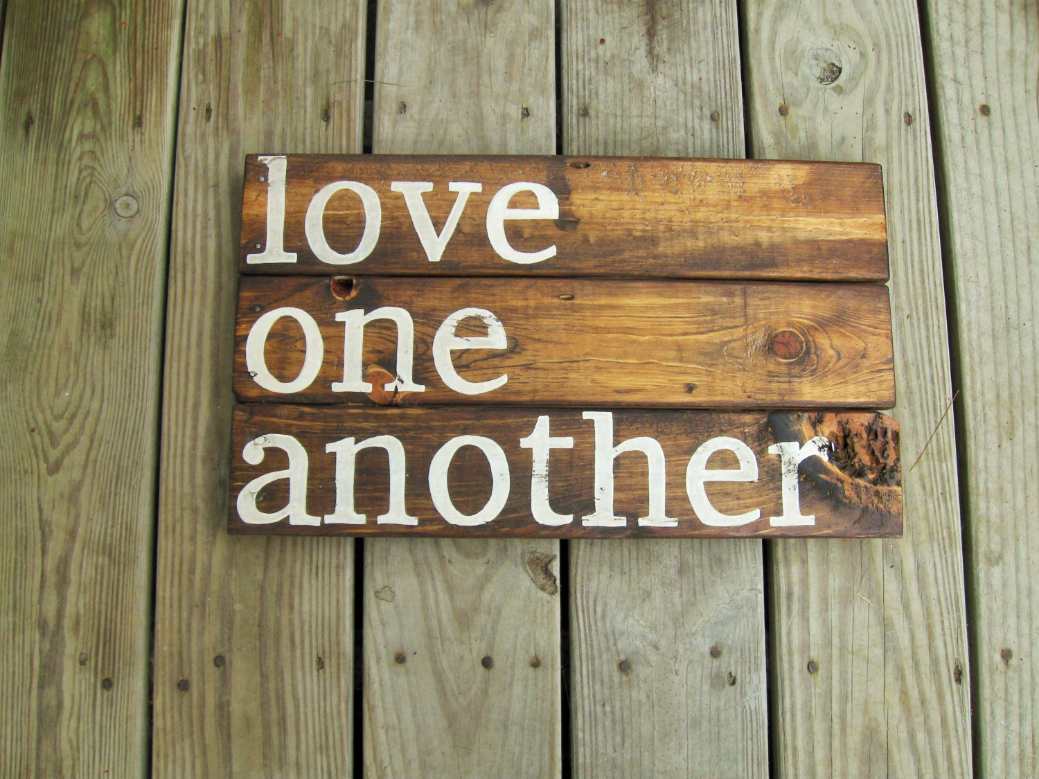 Rustic Wall Decor Reclaimed Wood Wall Art Love Quote Wall