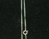 "Vintage 1970's Simple Sterling Chain, 20""L, Tarnish...you clean"