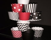 Georgia Bulldog theme cupcake wrappers