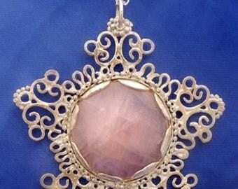 Rose quartz Flower