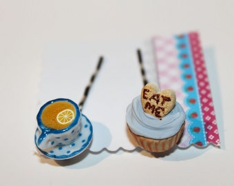 Eat Me Drink Me Hair Pins - Fairy Tale Bobby Pins - Miniature Food  Hair Pins - Kawaii Jewelry