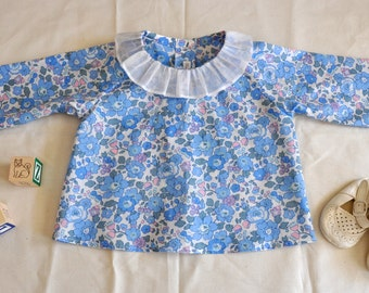 Baby Liberty of London Tawna Lawn in Betsy Print Top Size 6mo.
