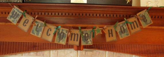 Welcome Home Banner - Military Camouflage Banner - Welcome Home Garland - Welcome Home