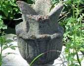 Reserved for Julia Cement Finial, Vintage Architechtural Salvage, Cement Urn, Garden Statue