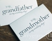 Wedding Card to Your Grandparents - Grandparent of the Bride or Groom Cards, Grandmother, Grandfather On My Wedding Day Thank You CS08