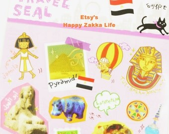 Egypt - Travel Seal Collection - Translucent Die Cut Sticker - 1 Sheets
