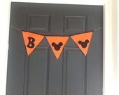 HALLOWEEN Mickey Mouse Felt party Banner/garland