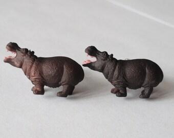 Hippopotamus Cufflinks