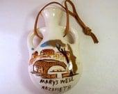 Vintage Mary's Well Nazareth / Virgin Mary / Saint / Holy Land / Angel Gabriel / Water Jug / Religious Souvenir
