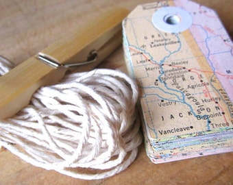 Vintage Map gift tags, wedding, shabby chic, upcycled, gift tags, favor tags, atlas tags, vintage paper tags wedding tags pastel
