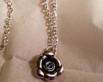 Flower Necklace Silver Jewelry Chain Jewellery Children Pendant Flower Girl Wedding