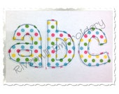 Small Cheri Raggy Applique Machine Embroidery Font Alphabet - 4 Sizes