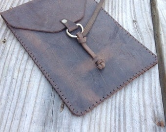 Handmade Leather iPad Mini, Android Tablet or Kindle case choose your color leather & thread!