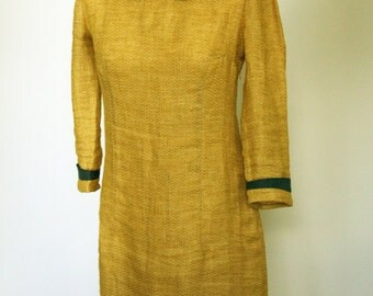 Linen yellow dress  softined linen ready to ship