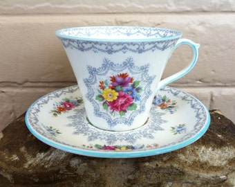 Shelley Cup and Saucer - Shelley Teacup - Crochet Pattern - Wedding Tea Cup