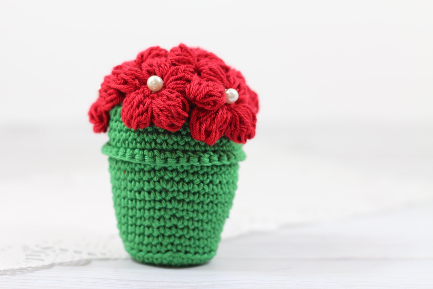 Amigurumi Crochet Flowers : Crocheted Flower Pot Tutorial Amigurumi Flower Pot by etty2504