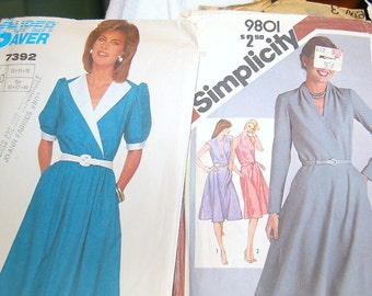 2 patterns Vintage Simplicity 9801 and Super Saver 7392  -  Used/ Unused -  Size 12-16