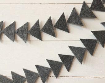 Mini arrowhead felt garland - {stiffened felt} - arrowhead bunting