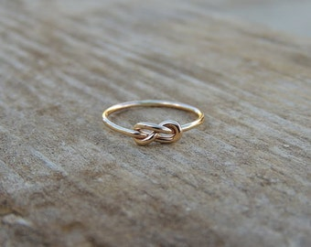 Infinity Knot Ring - Silver Knot Ring - Rose Gold filled Love knot Ring - Gold filled Memory Knot Ring - Figure 8 Knot Ring  Infinity Knot