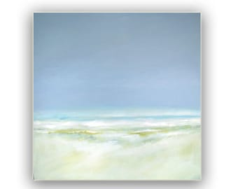 """Painting Acrylic Original, Dune Waves, Abstract Seascape- 20"""" x 20"""""""
