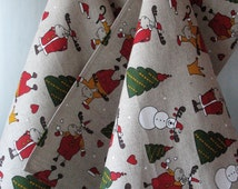 Linen Towels Kitchen Towels Christmas Towels Dish Towels Hand Towel Rudolph Reindeer Christmas Holiday - Tea Towels set of 2