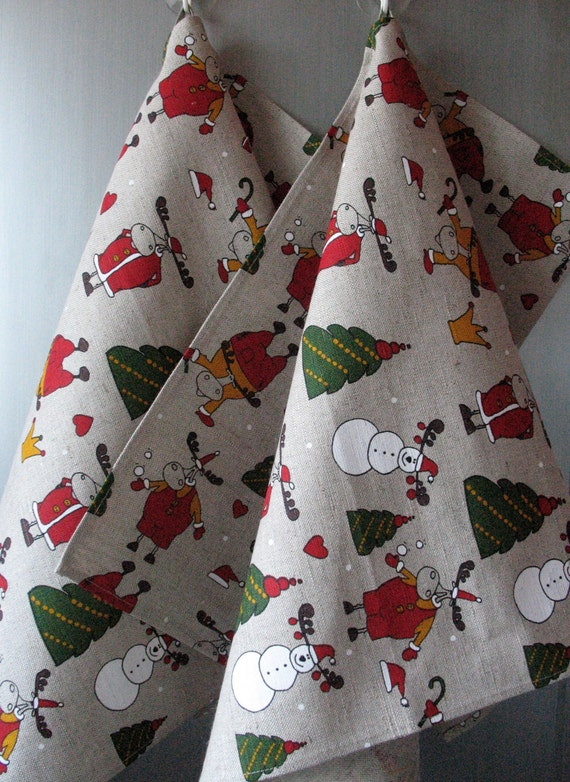 Linen Towels Kitchen Towels Christmas Towels Dish Towels Hand