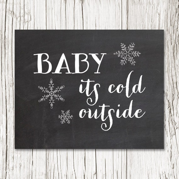 Items Similar To Baby Its Cold Outside Art Print