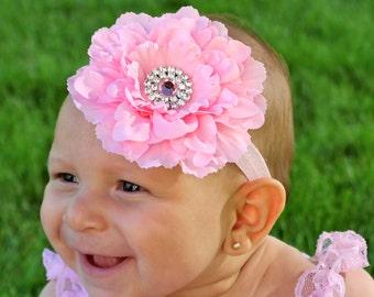 Pink Flower Headband - Sale Flower - Pink Baby Headband