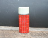 Vintage Grant Maid Plaid Pint Wide Mouth Thermos Hot or Cold