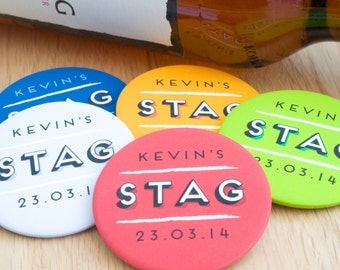 Stag do badges - Personalised Stag do badges. Stag gift.