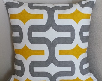 Grey and Yellow Pillow Covers, Ash Gray Throw Pillows, Home Decor Decorative Embrace Cushion