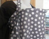 nursing cover like hooter hider breastfeeding cover gray dots   NEW  or choose-more in my store