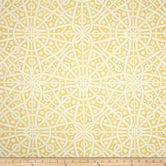 "Two  96"" x 50""  Custom Curtain Panels -  Geometric Galaxy - Yellow/Blue/Taupe Grey/Spa Green"