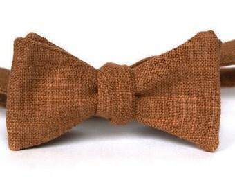 Faux Burlap Men's Bow Tie