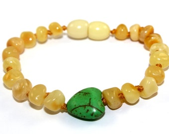 BALTIC AMBER Teething Bracelet or Anklet for Baby or Child with CERTIFICATE of Authenticity